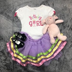"Gymboree ""Birthday Girl"" Shirt and Tutu size 3"